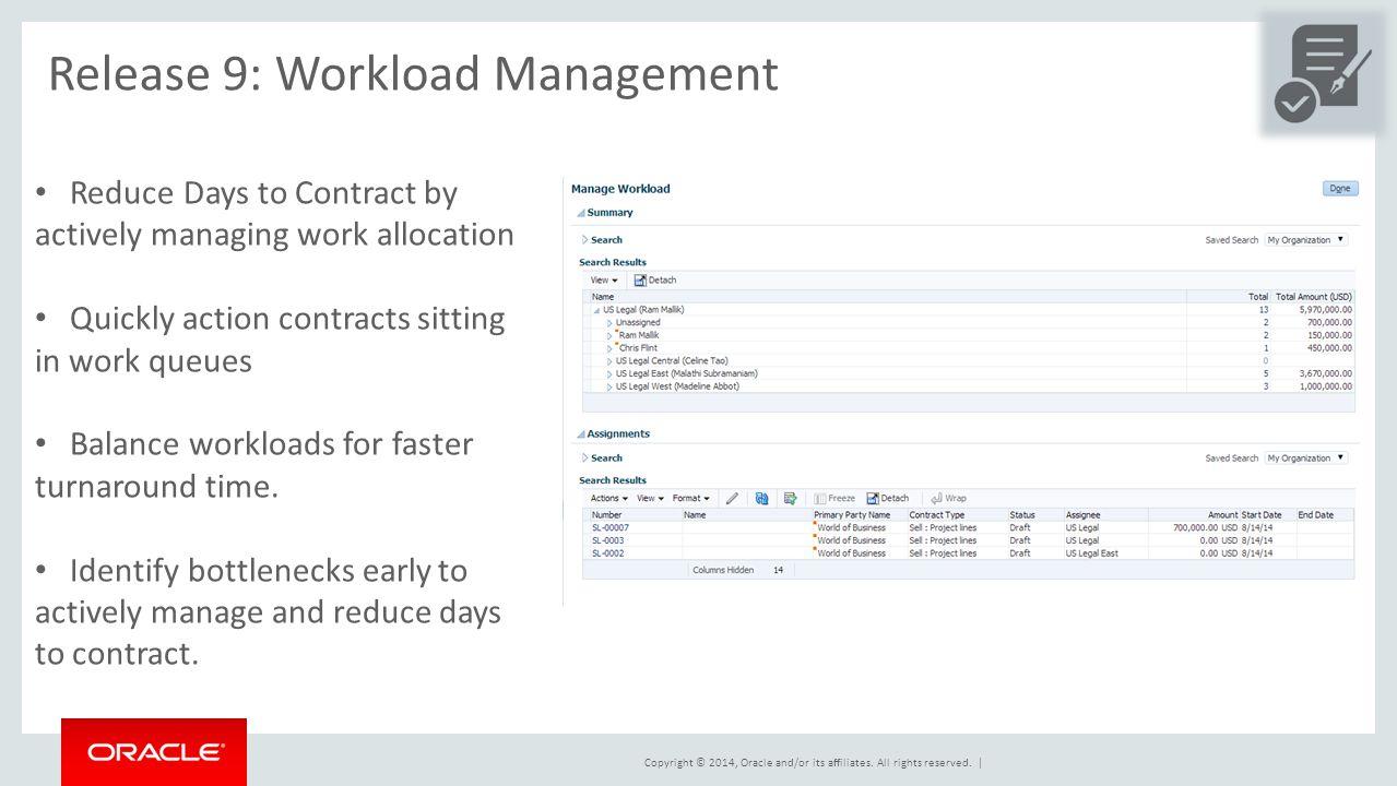 Release 9: Workload Management