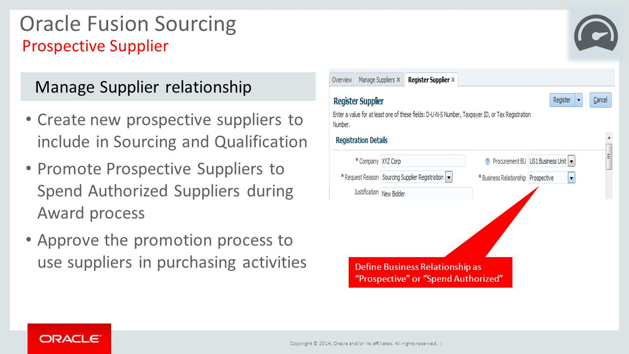 Oracle Fusion Sourcing