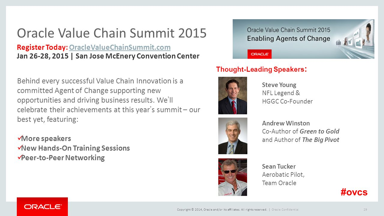 Oracle Value Chain Summit 2015