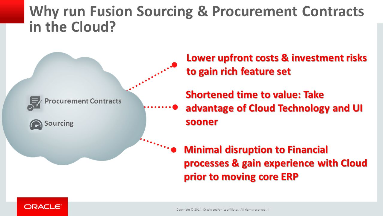 Why run Fusion Sourcing & Procurement Contracts in the Cloud