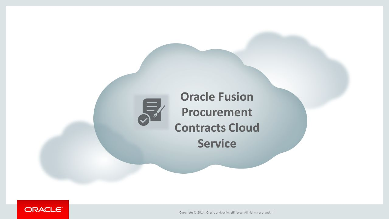 Oracle Fusion Procurement Contracts Cloud Service