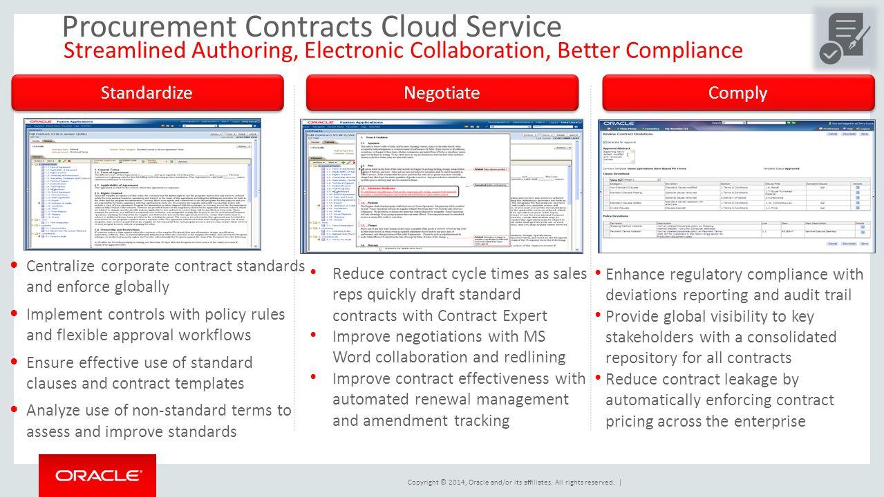 Procurement Contracts Cloud Service