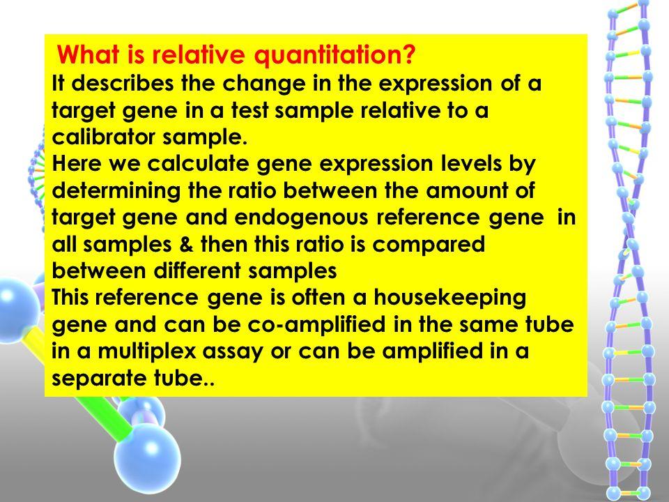 What is relative quantitation