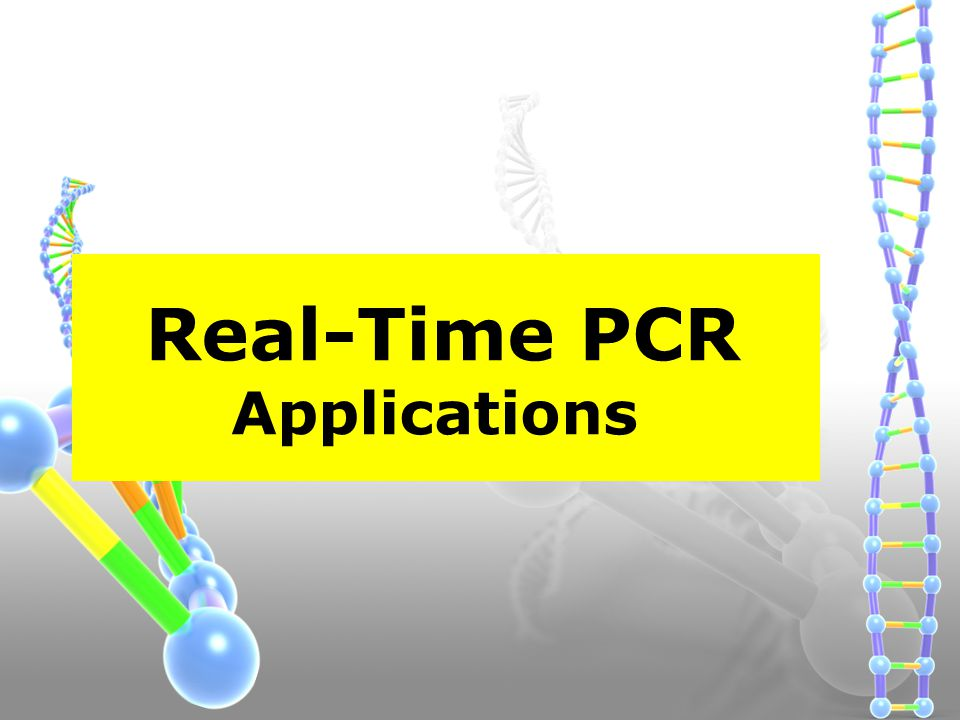 Real-Time PCR Applications