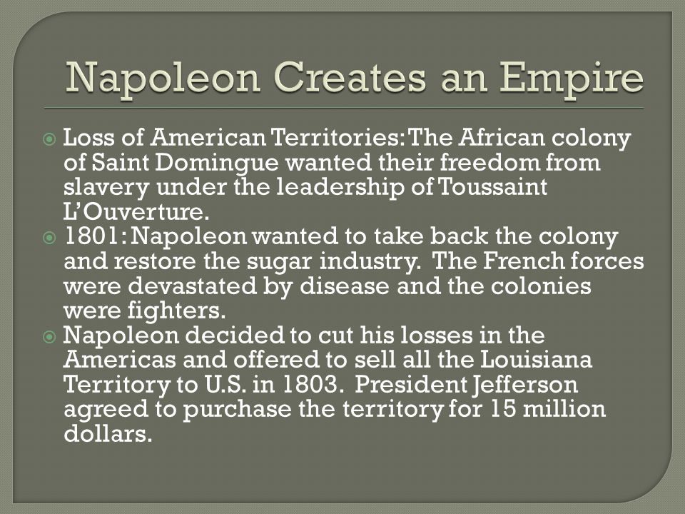Napoleon Creates an Empire