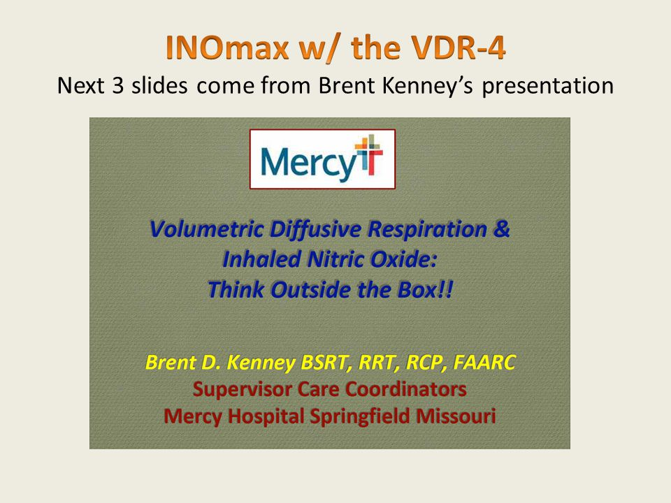 INOmax w/ the VDR-4 Next 3 slides come from Brent Kenney's presentation