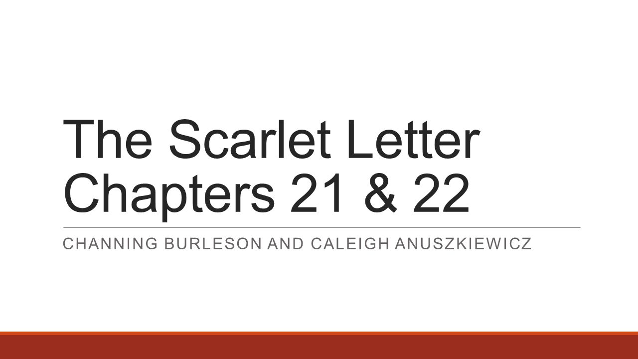 the scarlet letter chapters 1 3 Assignment: 1) read chapters 1 - 3 of the scarlet letter 2) preview the other slides (and feel free to comment on any of them) 3) study questions are provided to help you prepare for the quiz on monday.