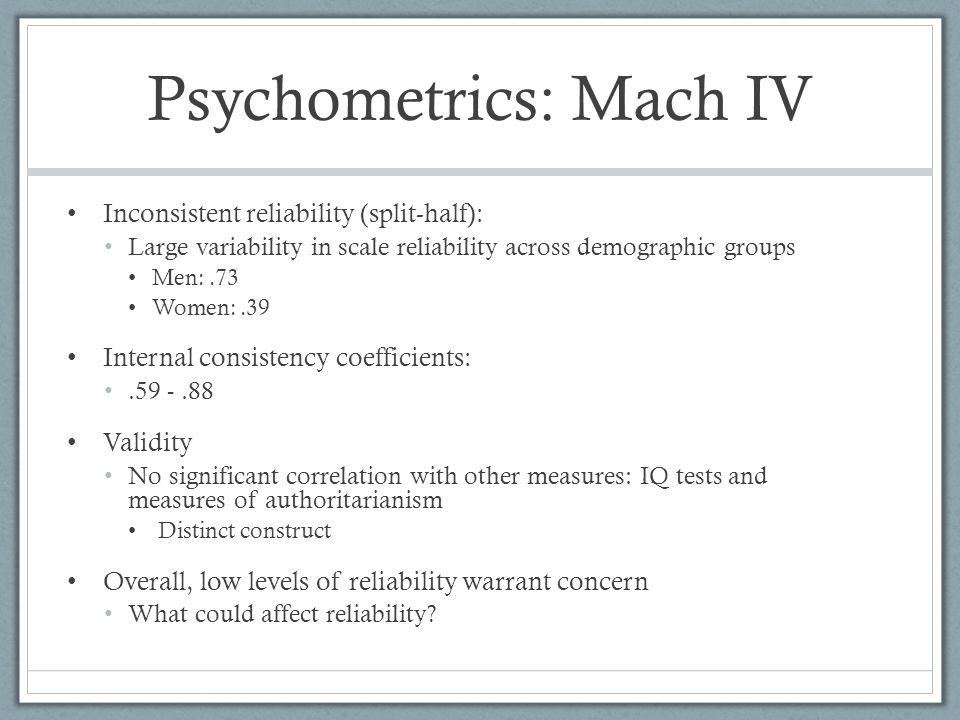 Psychometrics: Mach IV