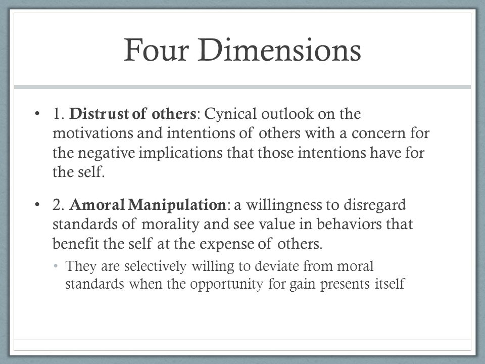 Four Dimensions