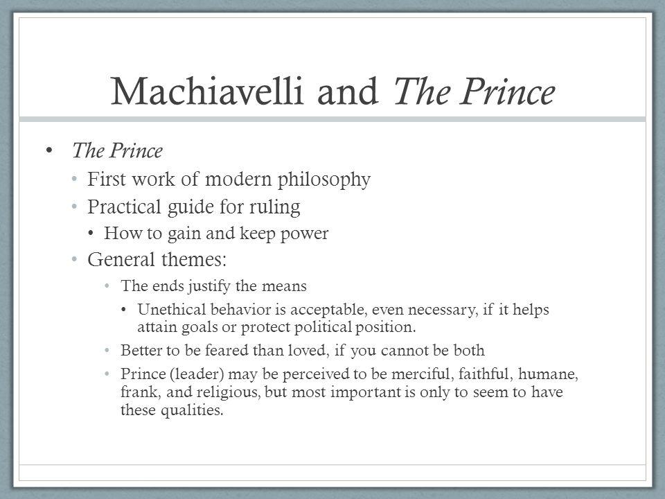 Machiavelli and The Prince