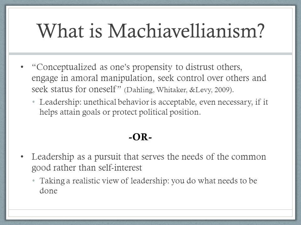 What is Machiavellianism