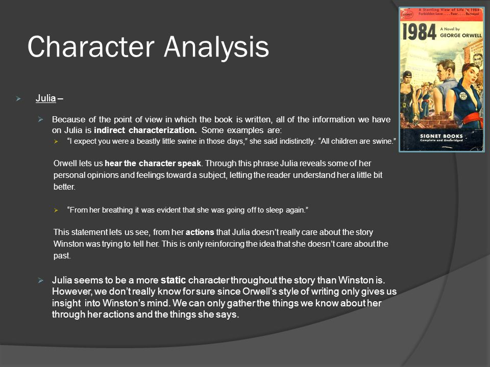 An analysis of the 1984s character of winston smith