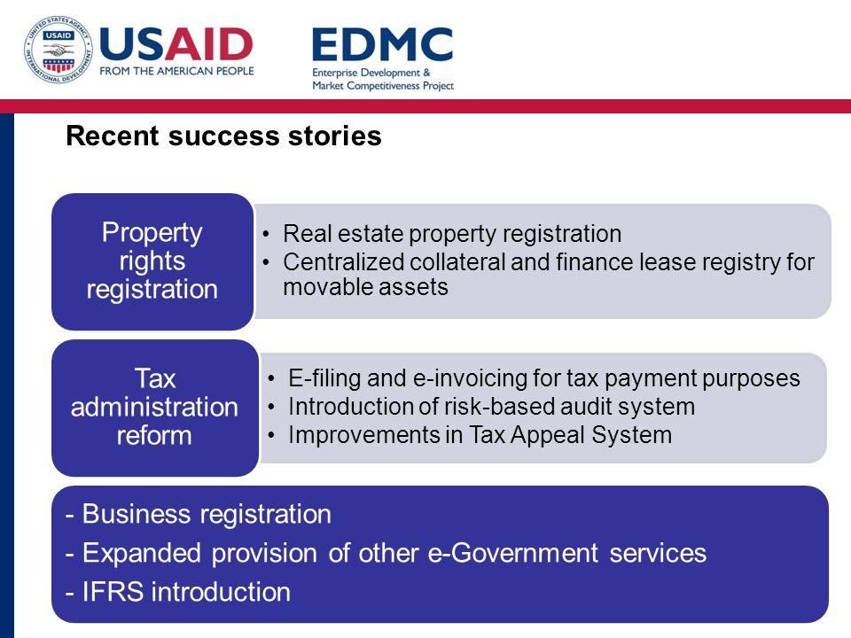 Recent success stories
