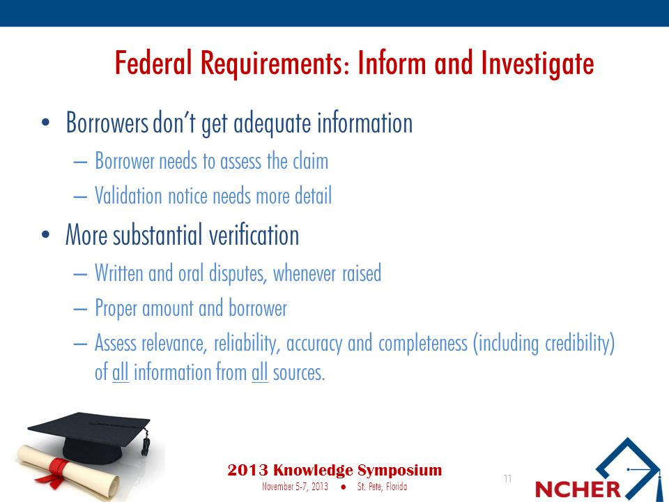 Federal Requirements: Inform and Investigate