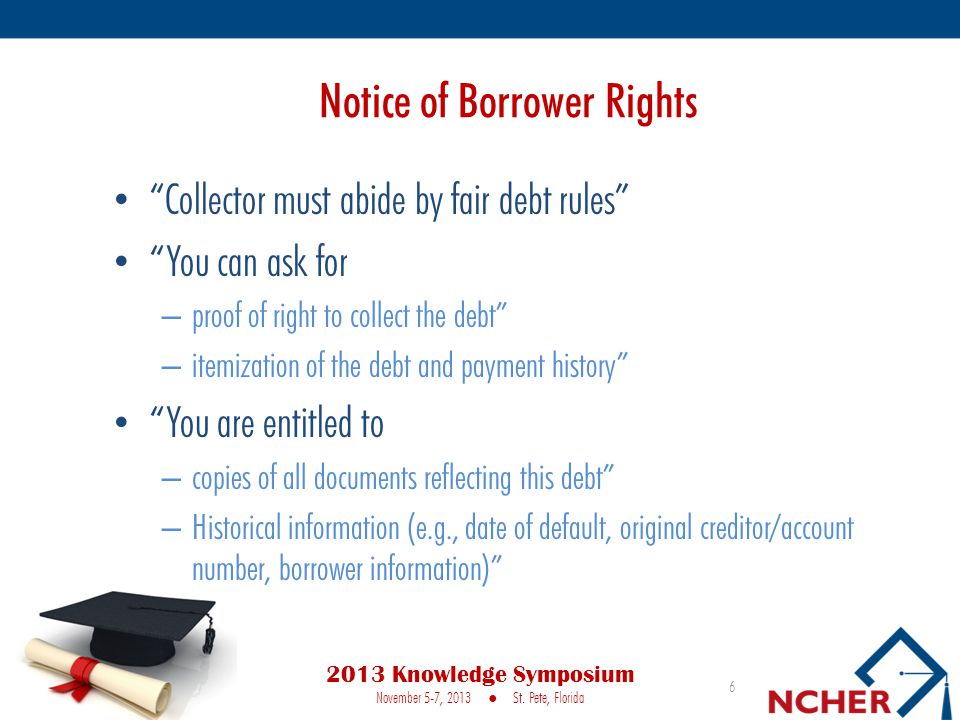 Notice of Borrower Rights