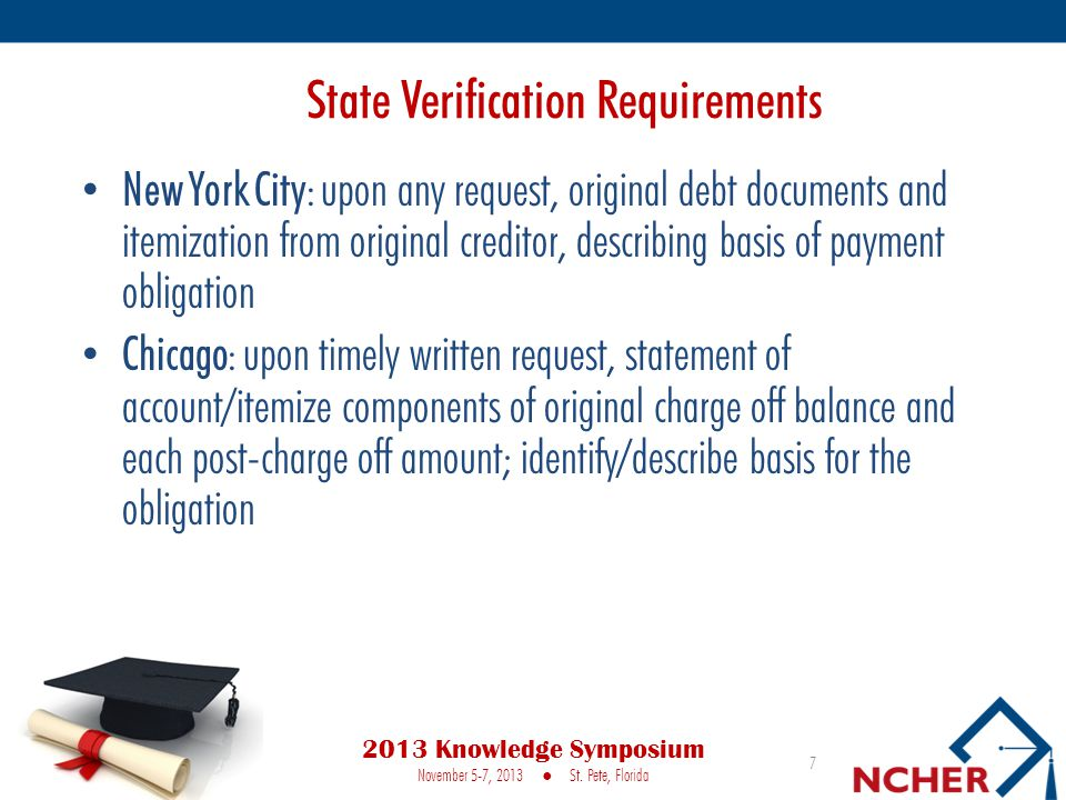 State Verification Requirements