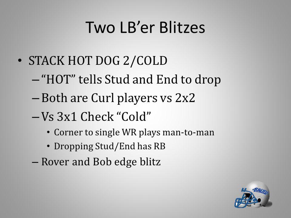 Two LB'er Blitzes STACK HOT DOG 2/COLD