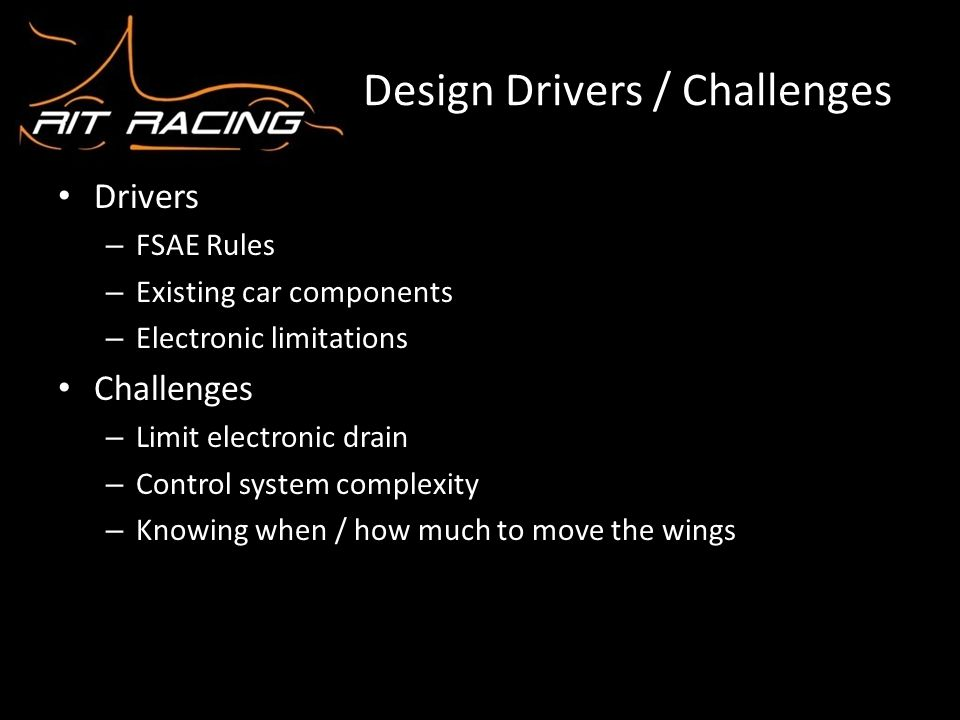 Design Drivers / Challenges