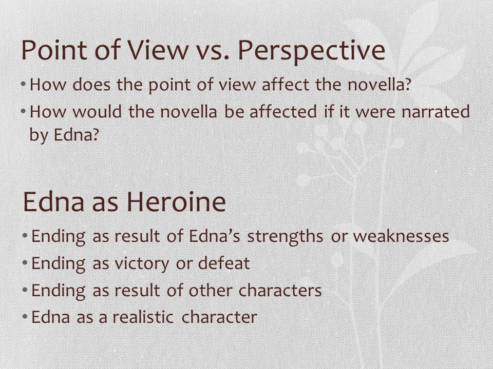 Point of View vs. Perspective