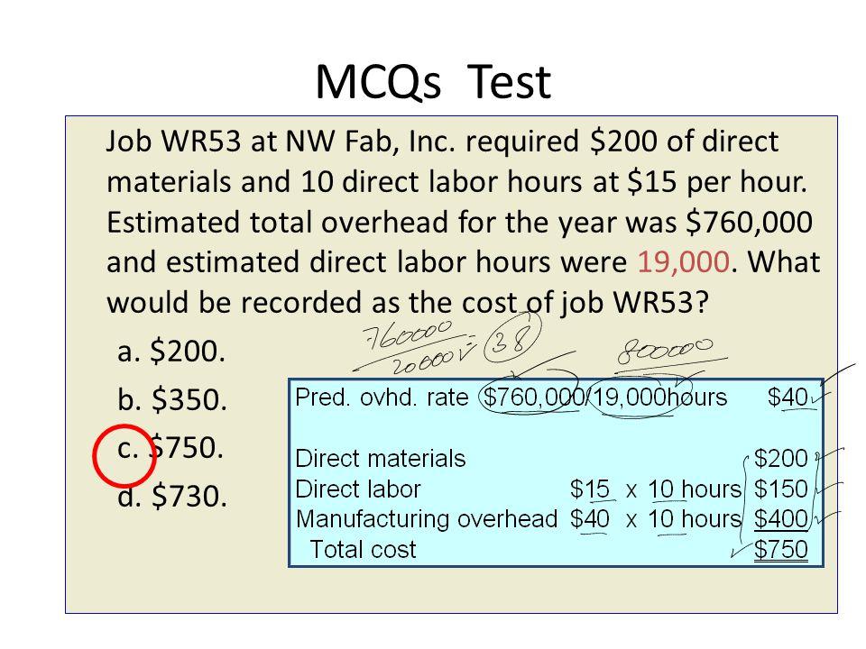 MCQs Test