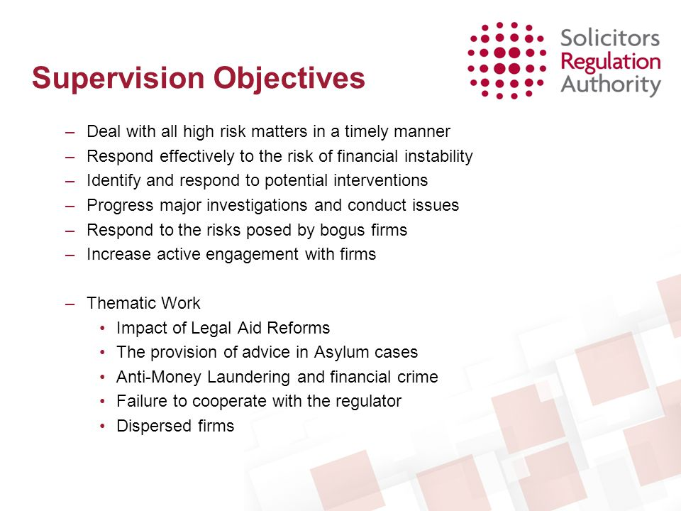 Supervision Objectives