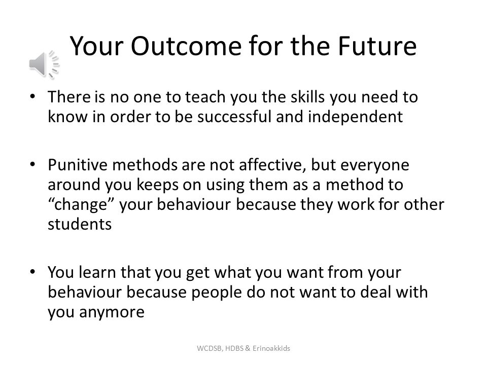 Your Outcome for the Future