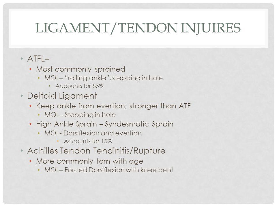 Ligament/tendon injuires
