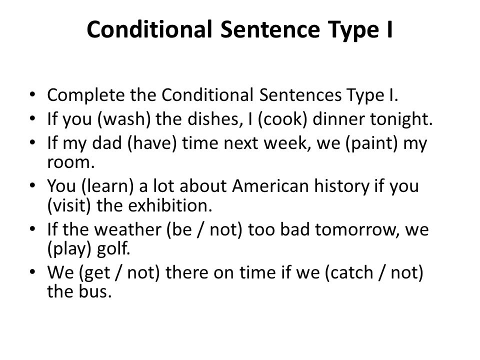 Conditional Sentence Type I