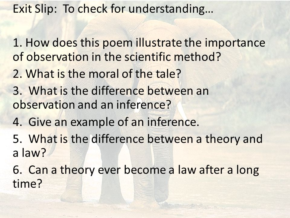 Exit Slip: To check for understanding… 1