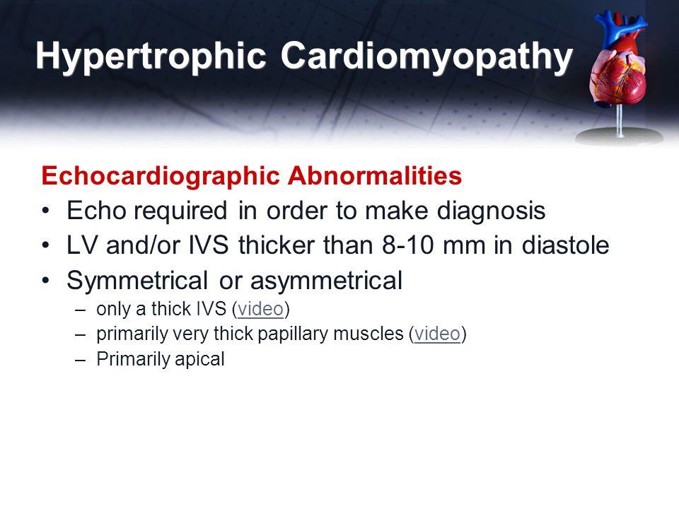 Hypertrophic Cardiomyopathy