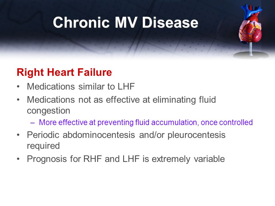 Chronic MV Disease Right Heart Failure Medications similar to LHF