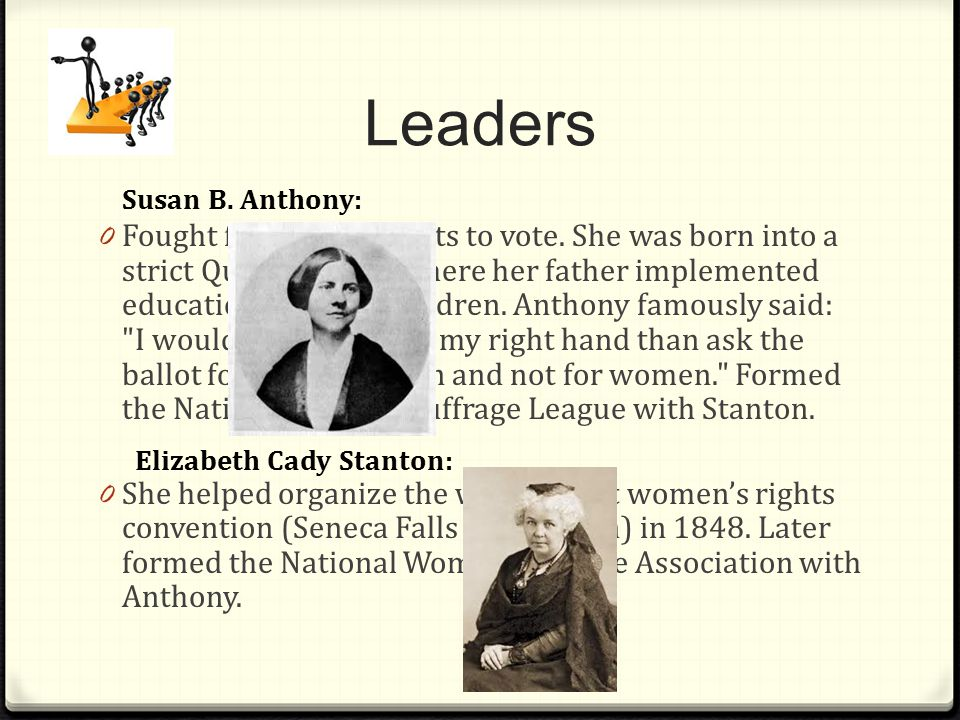 Leaders Susan B. Anthony: