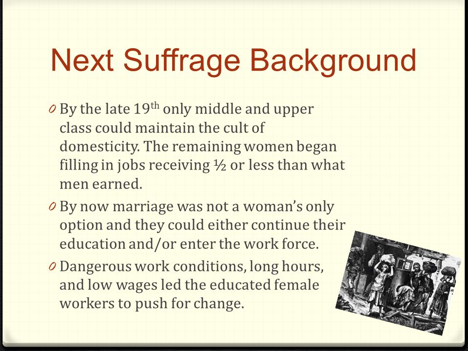Next Suffrage Background