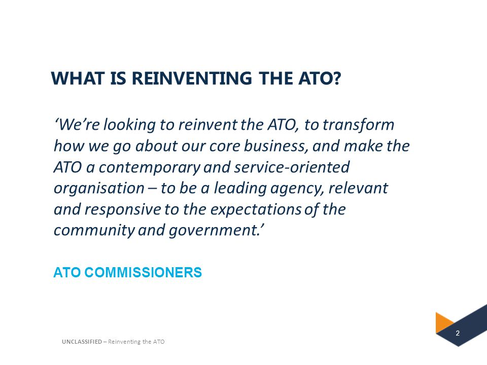 WHAT IS REINVENTING THE ATO