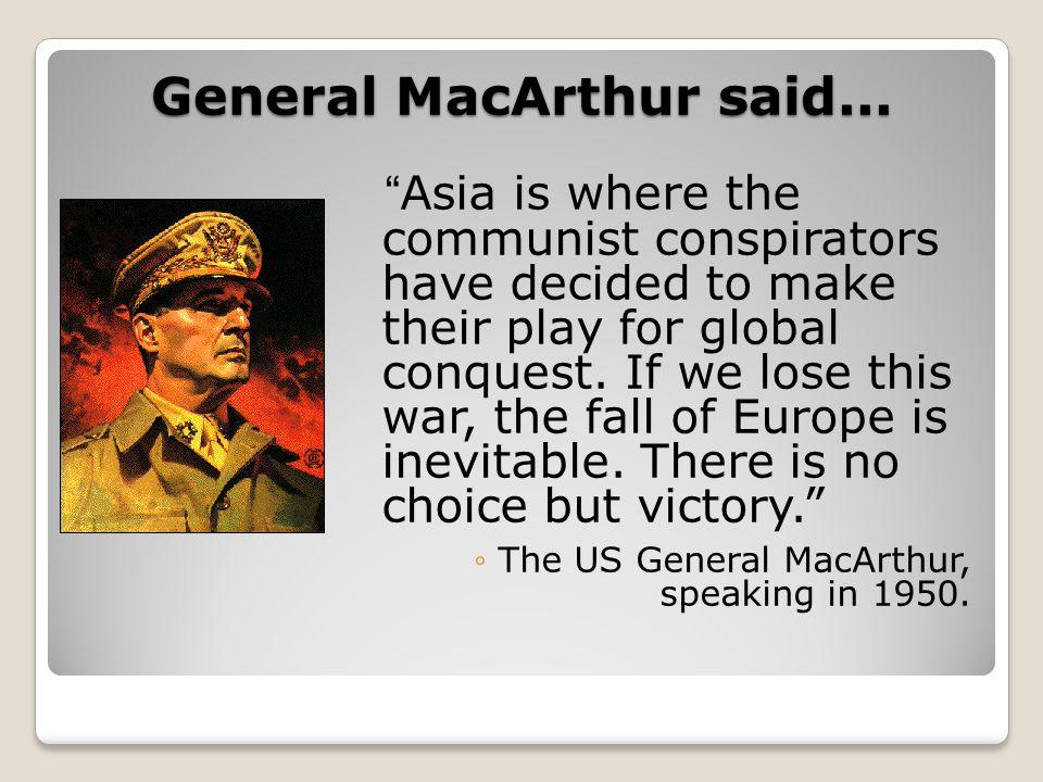 General MacArthur said...