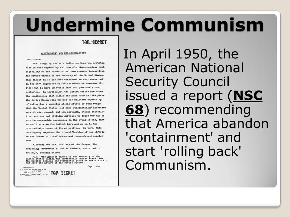 Undermine Communism
