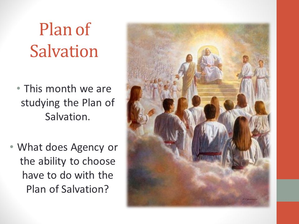 This month we are studying the Plan of Salvation.