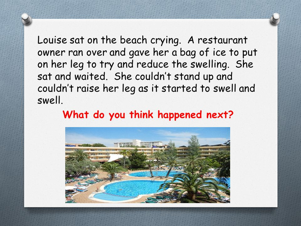 Louise sat on the beach crying