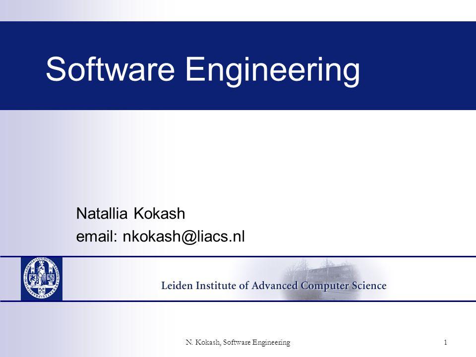 N. Kokash, Software Engineering