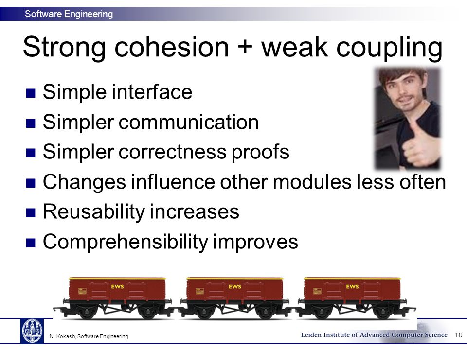 Strong cohesion + weak coupling