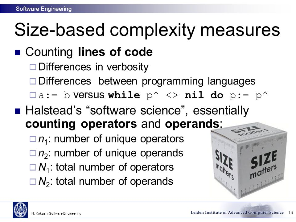 Size-based complexity measures
