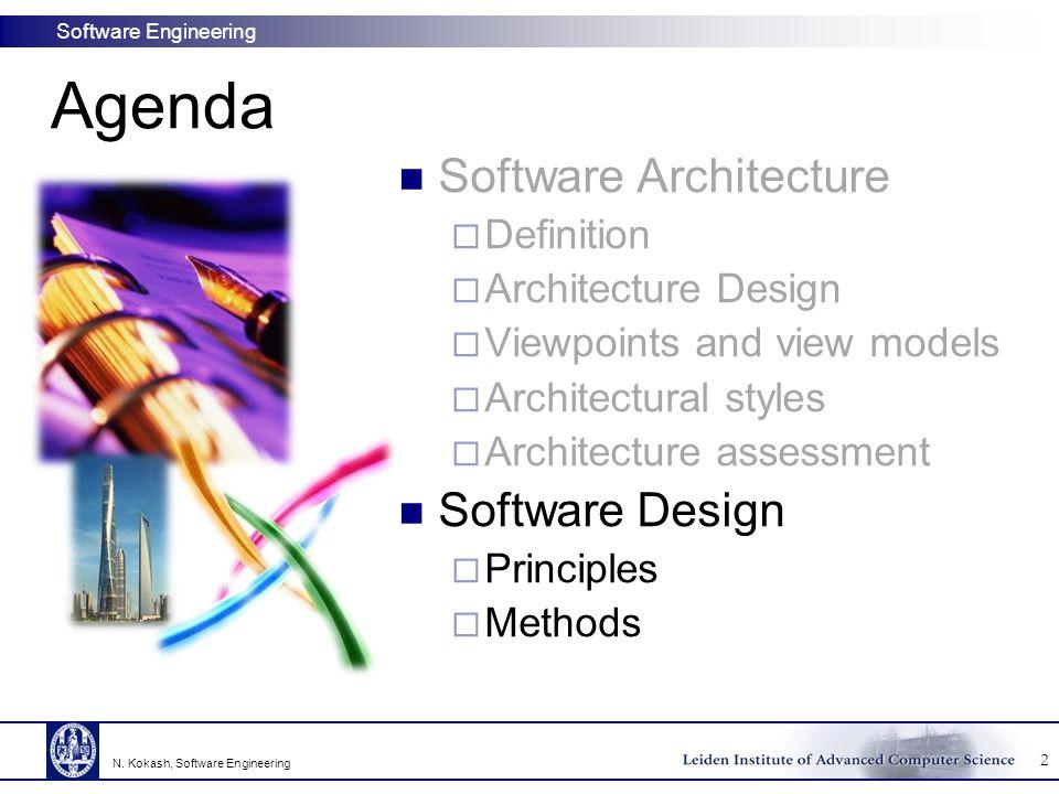 Agenda Software Architecture Software Design Definition