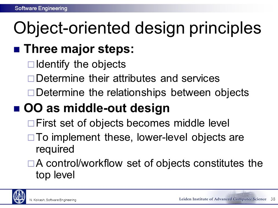 Object-oriented design principles