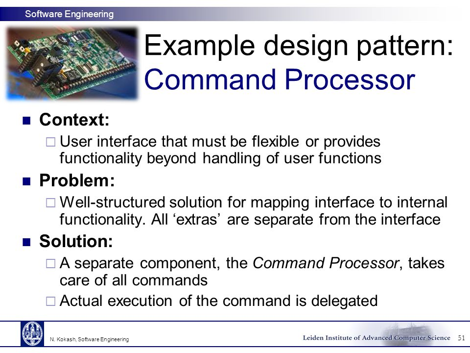 Example design pattern: Command Processor