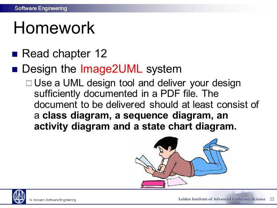 Homework Read chapter 12 Design the Image2UML system