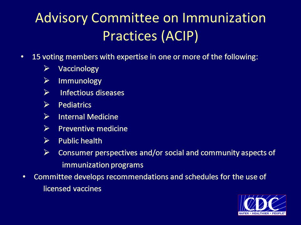 Advisory Committee on Immunization Practices (ACIP)