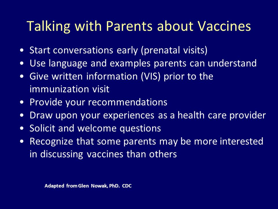 Talking with Parents about Vaccines