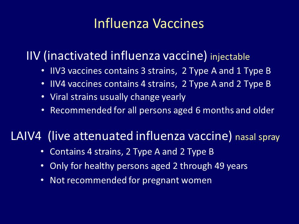 Influenza Vaccines IIV (inactivated influenza vaccine) injectable