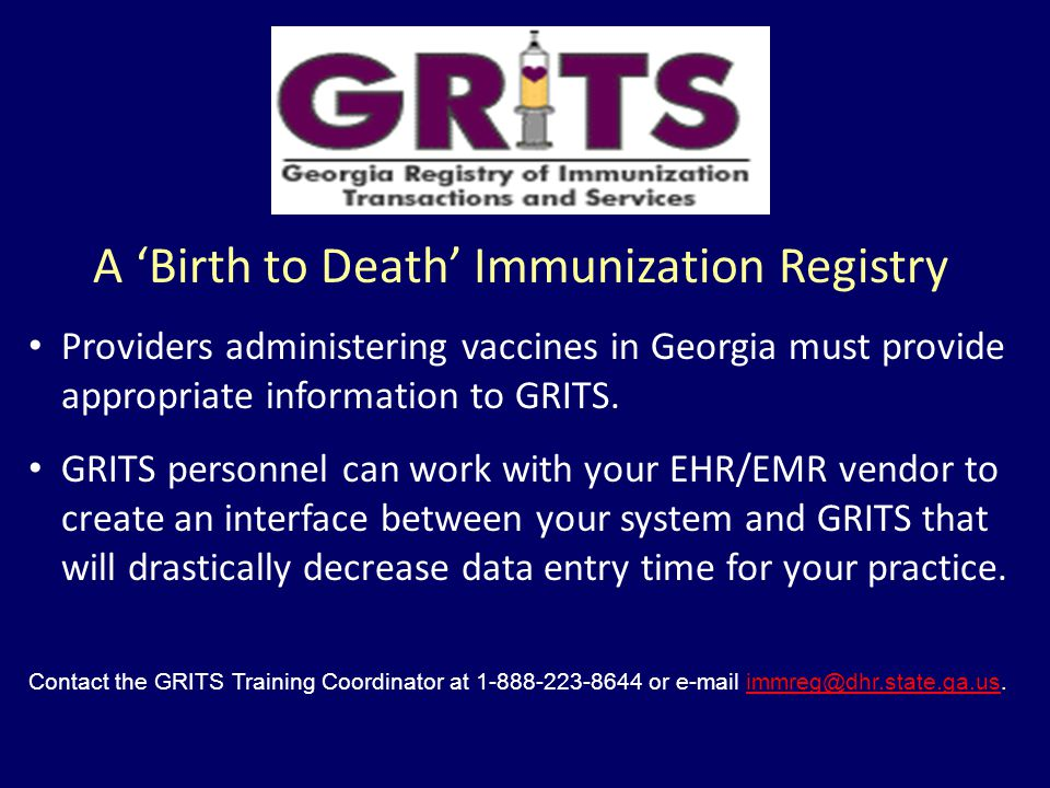 A 'Birth to Death' Immunization Registry