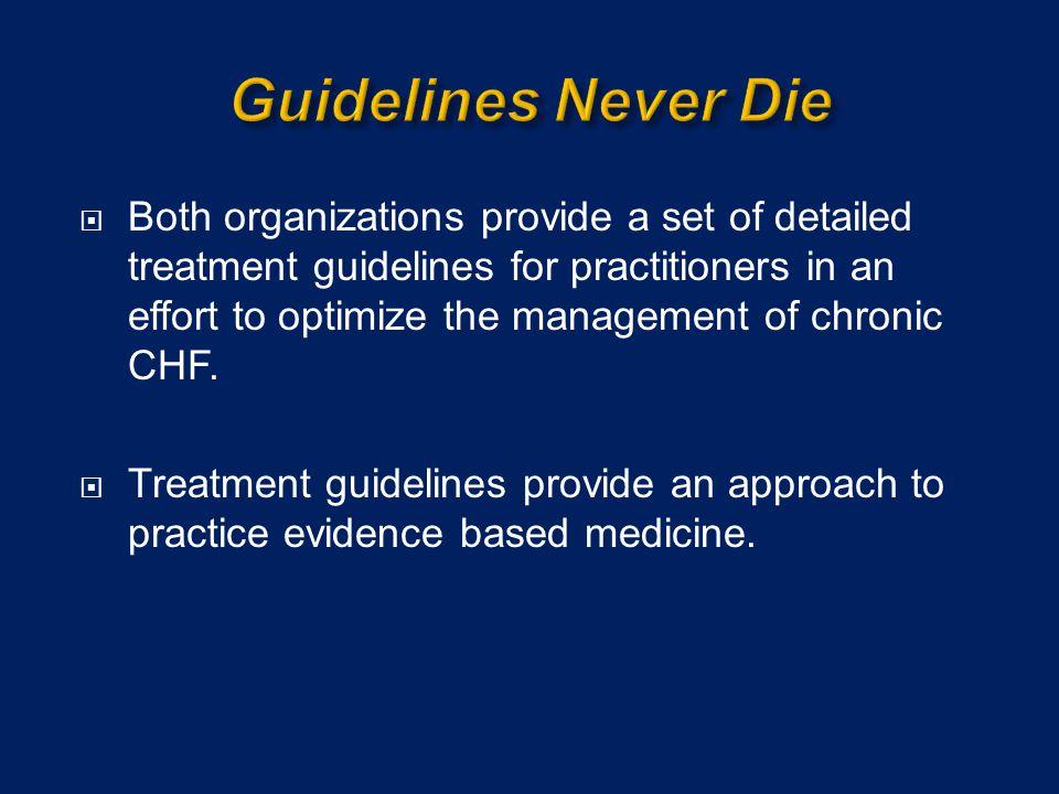 Guidelines Never Die